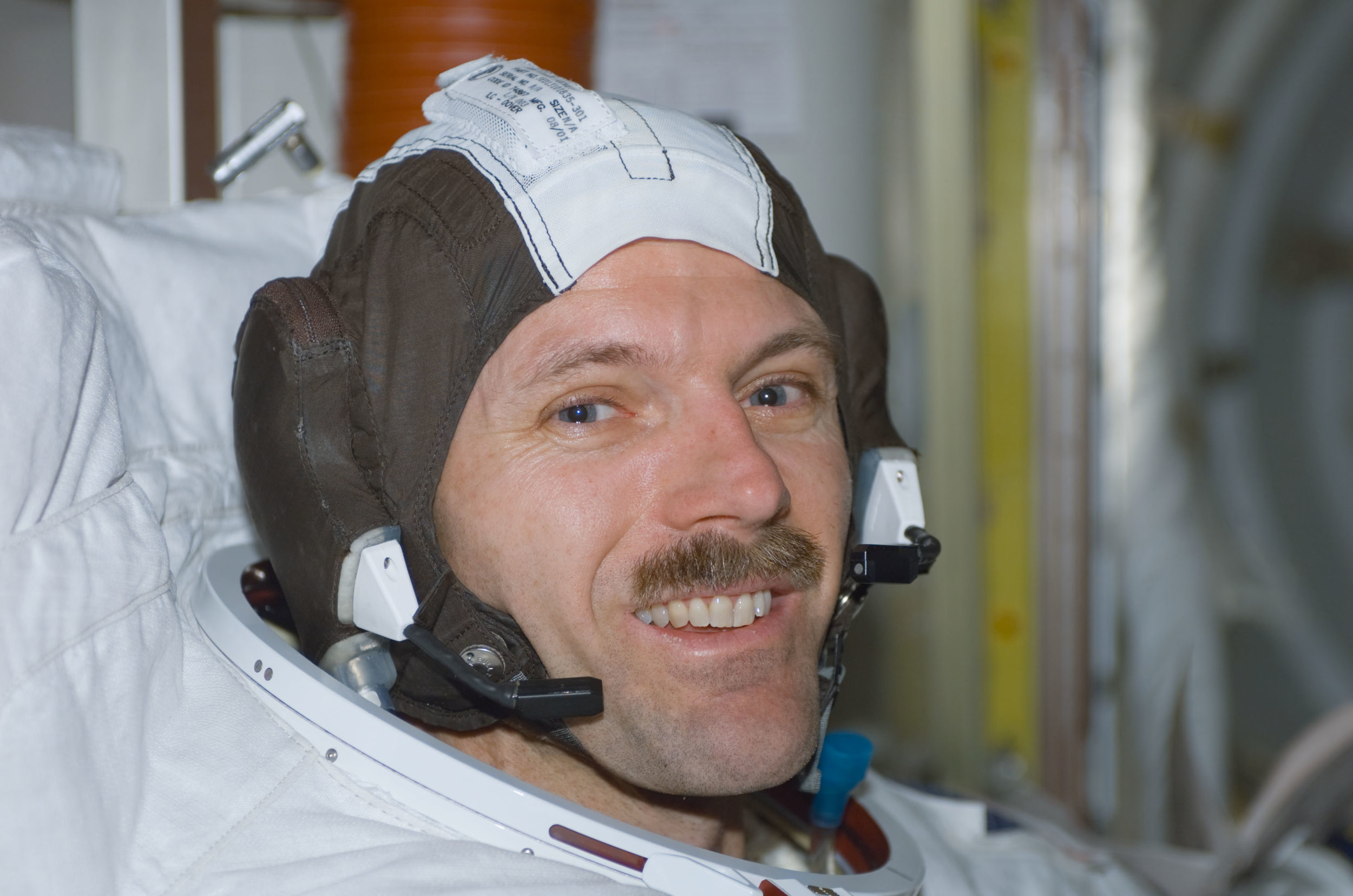 Post spacewalk smile on space station