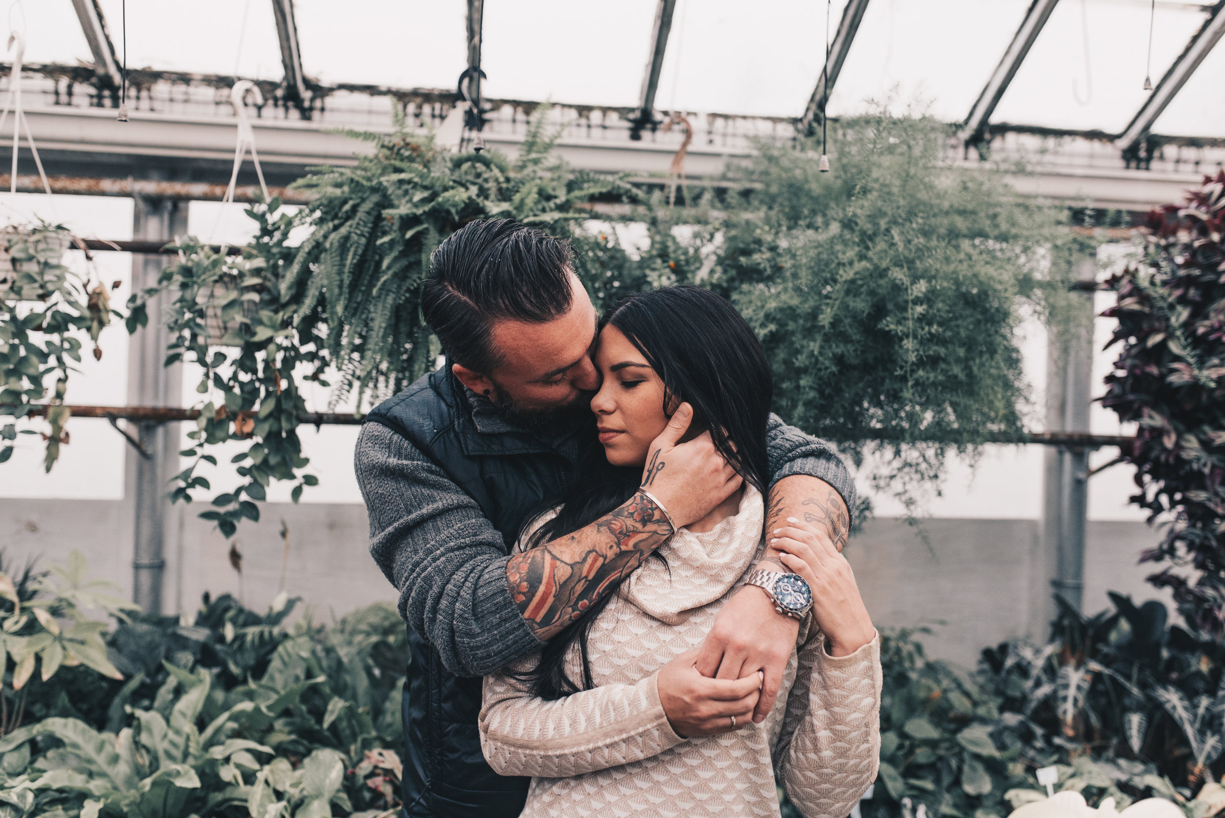 Greenhouse Couples Photography, Greenhouse Engagement Photography, Illinois Photographer