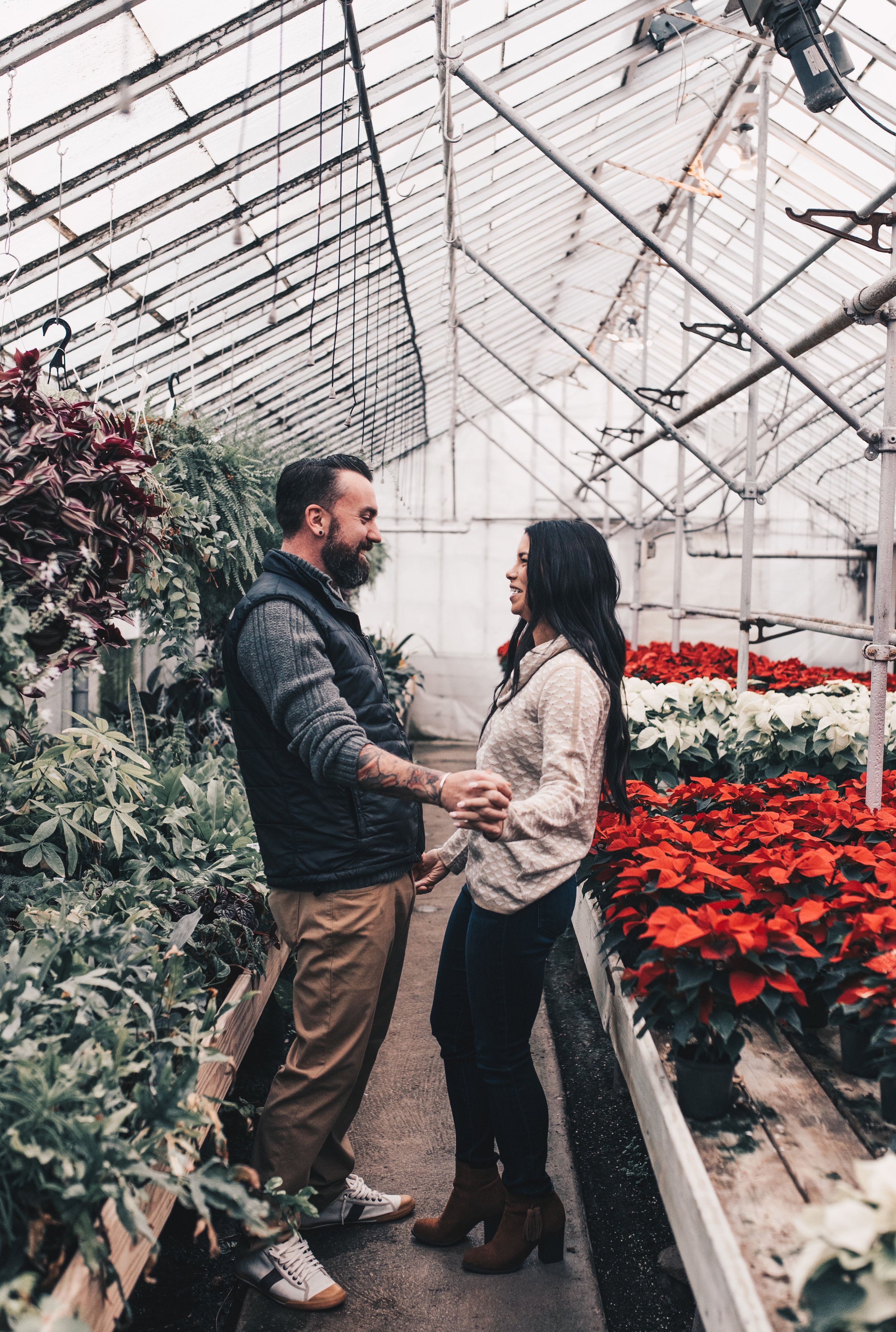 Greenhouse Couples Photography, Greenhouse Engagement Photography, Illinois Couples Photographer
