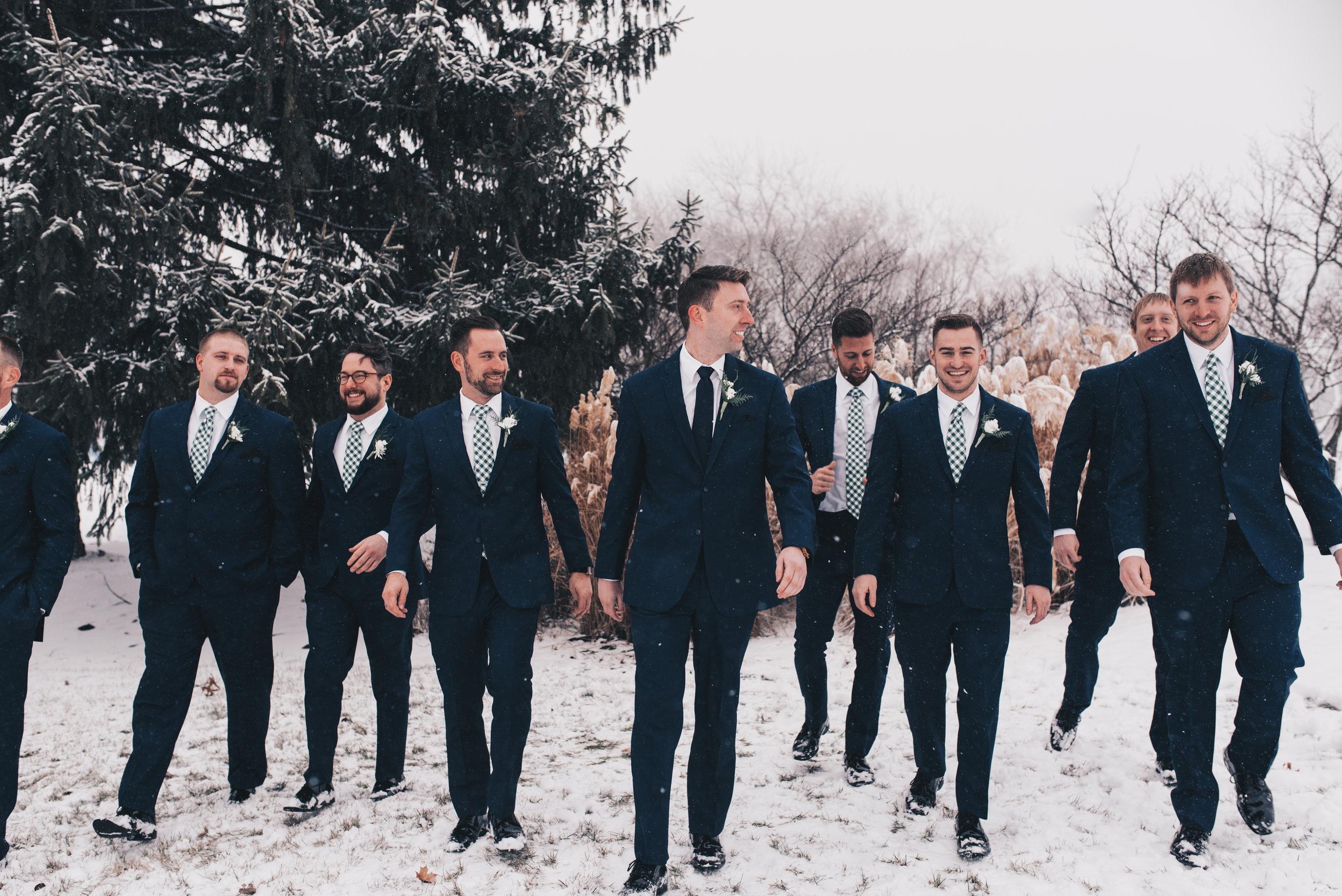 Winter Wedding, Chicago Winter Wedding, Chicago Wedding Photographer, Illinois Wedding, Illinois Wedding Photographer, Classy Modern Wedding, Groomsmen Photos, Bride And Groom Photos