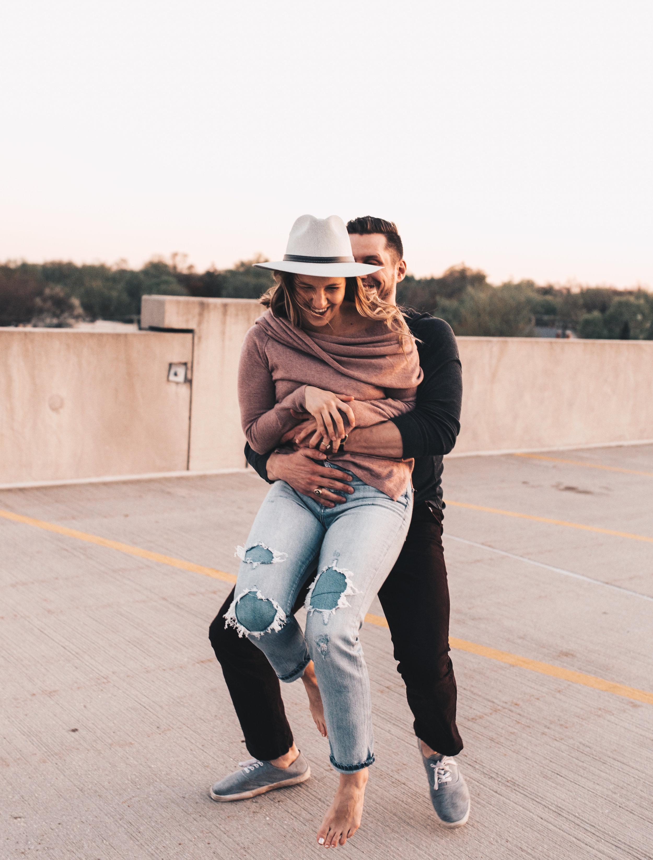 Parking Garage Couples Session, Parking Garage Engagement Session, Longboard Couples Session, Longboard Engagement Session, Skateboard Engagement Session, Skateboard Couples Session