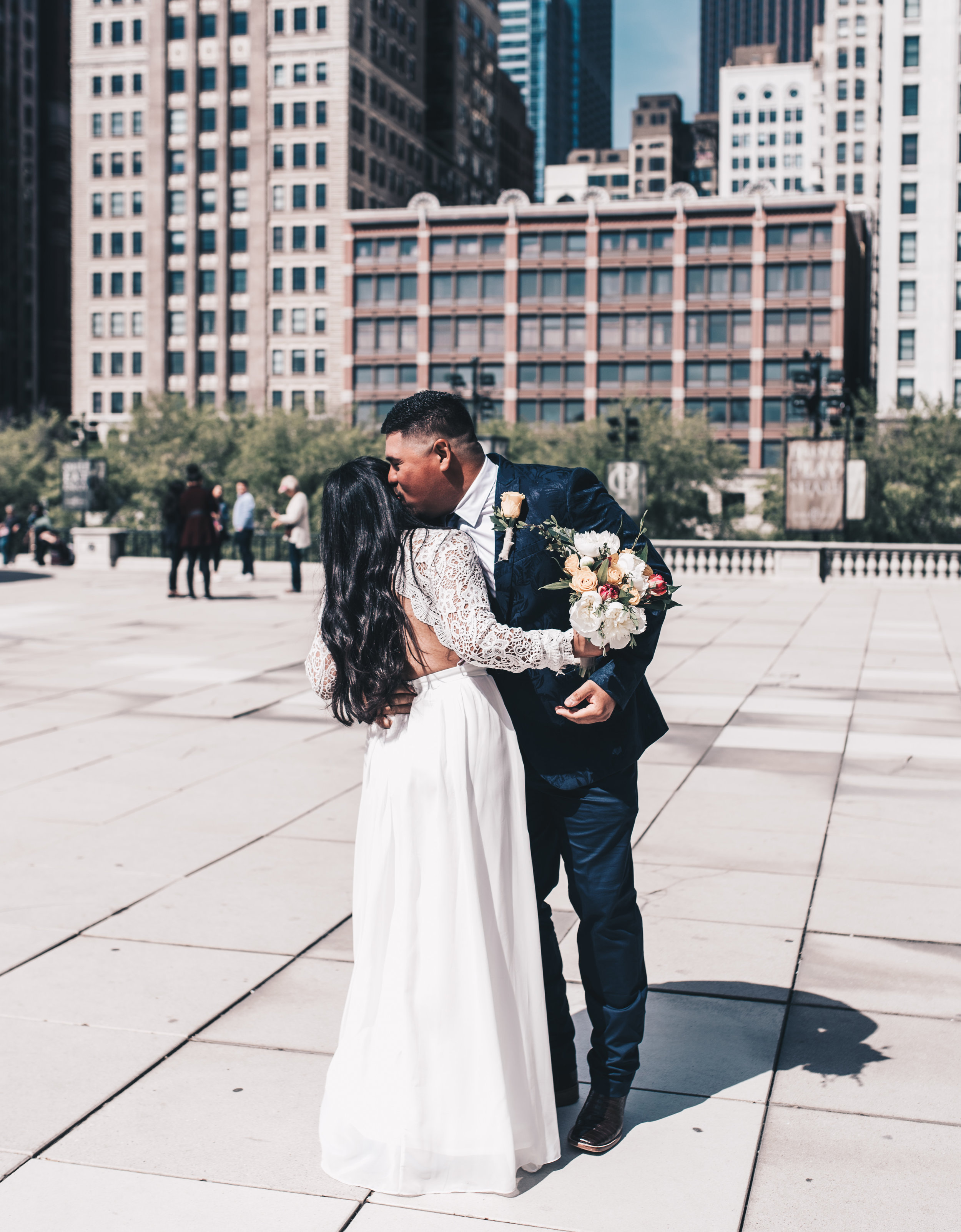 Chicago Elopement, Millennium Park Ceremony, Intimate Elopement, Getting Ready Photos, Bride and Groom, Adventurous Elopement, Chicago Elopement Photographer