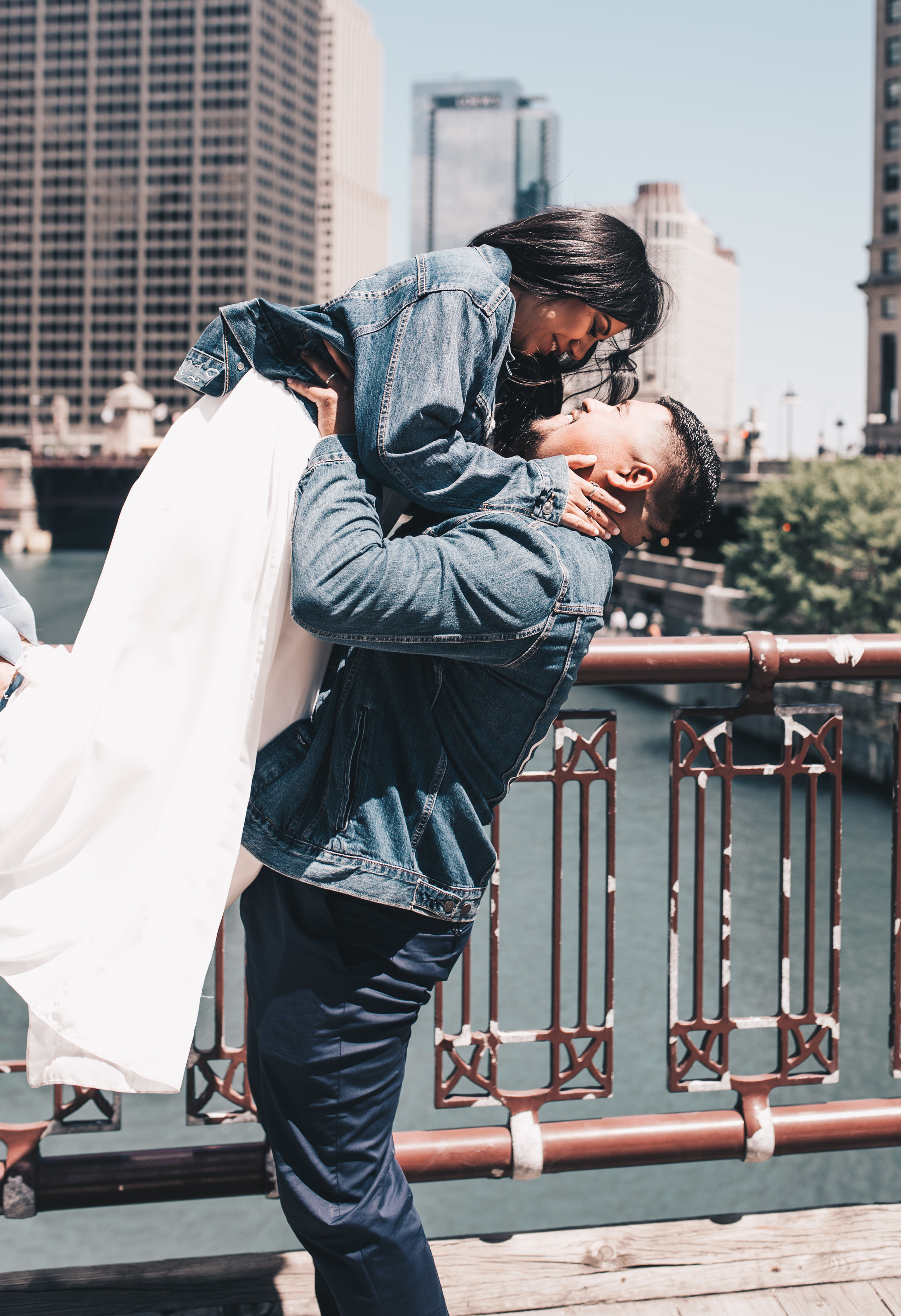 Chicago Elopement, Millennium Park Ceremony, Chicago Bridge Photos, Destination Elopement, Bride and Groom Photos, Adventurous Elopement, Chicago Elopement Photographer