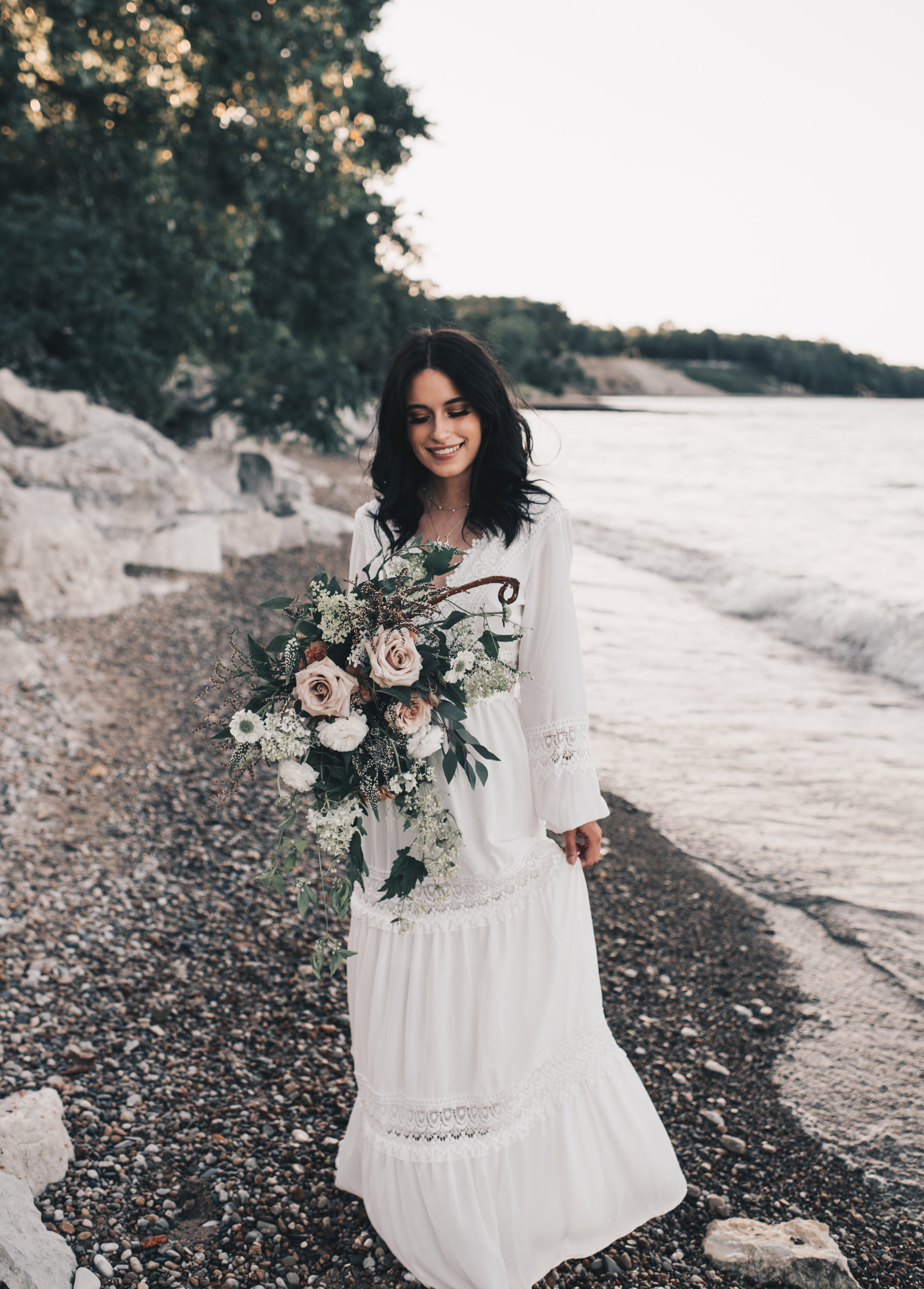 Lake Michigan Beach Session, Lake Michigan Beach Elopement, Summer Beach Elopement, Dreamy Beach Elopement, Illinois Beach Elopement, Indiana Dunes Elopement, Warren Dunes Elopement