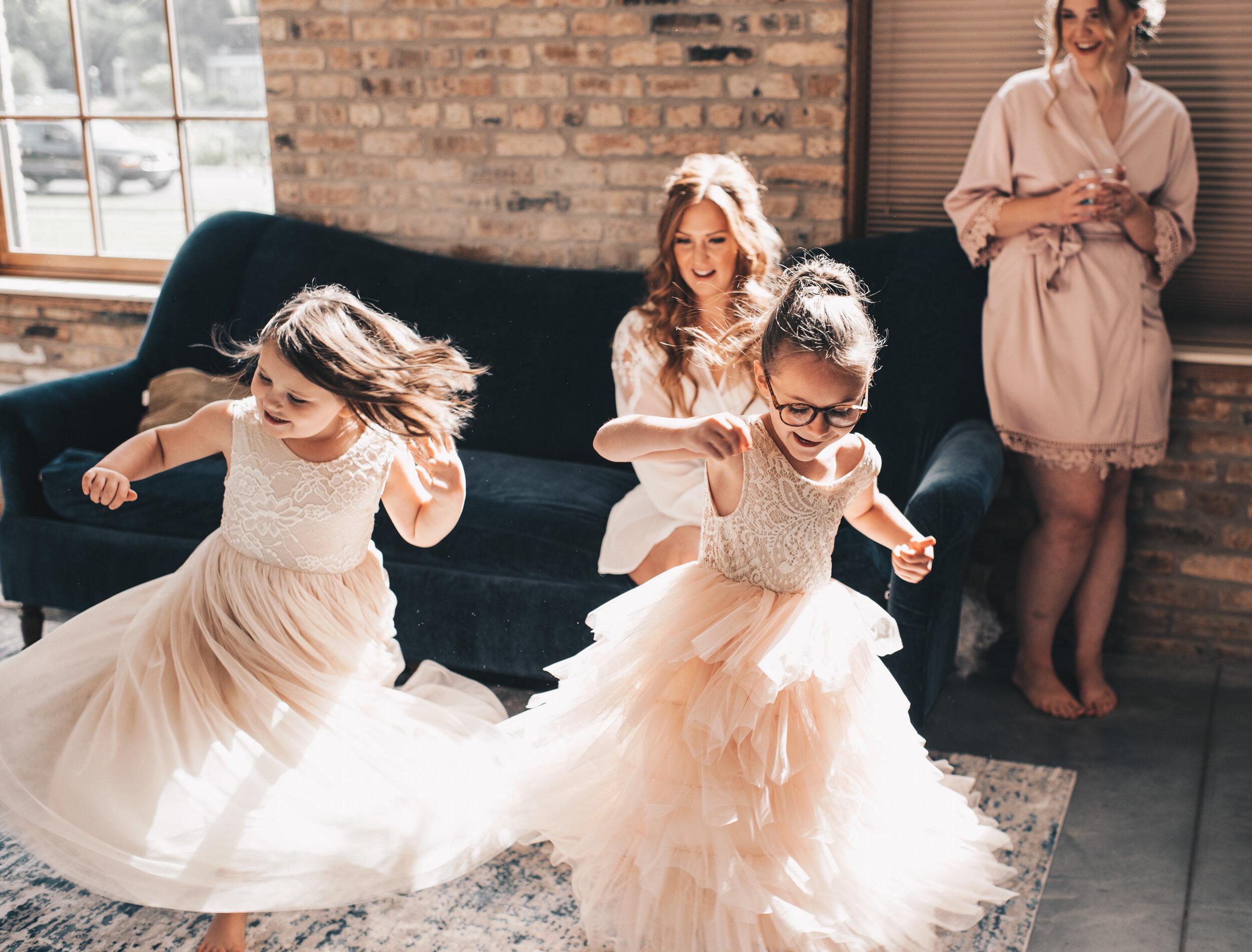 Modern Industrial Wedding, The Brix on the Fox, The BRIX, Wedding Detail Photos, Modern Midwest Wedding, The Brix on the Fox Wedding, The BRIX Wedding, Bride Getting Ready Photos, Flower Girl Photos