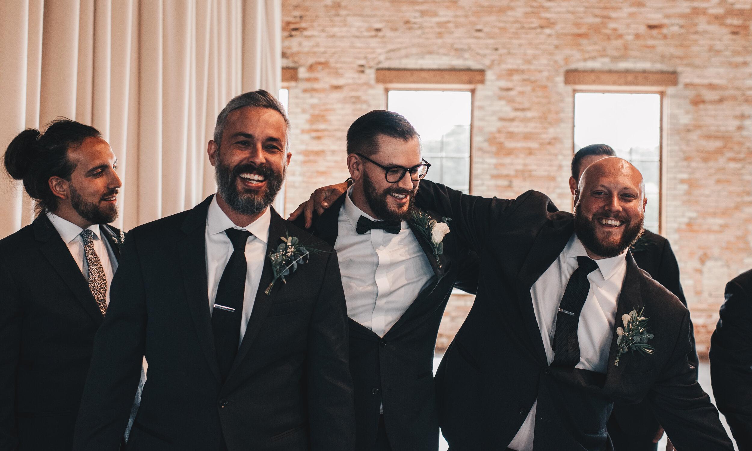 Modern Industrial Wedding, The Brix on the Fox, The BRIX, Chicago Industrial Wedding, Modern Midwest Wedding, The Brix on the Fox Wedding, The BRIX Wedding, Industrial Modern Groomsmen Photos