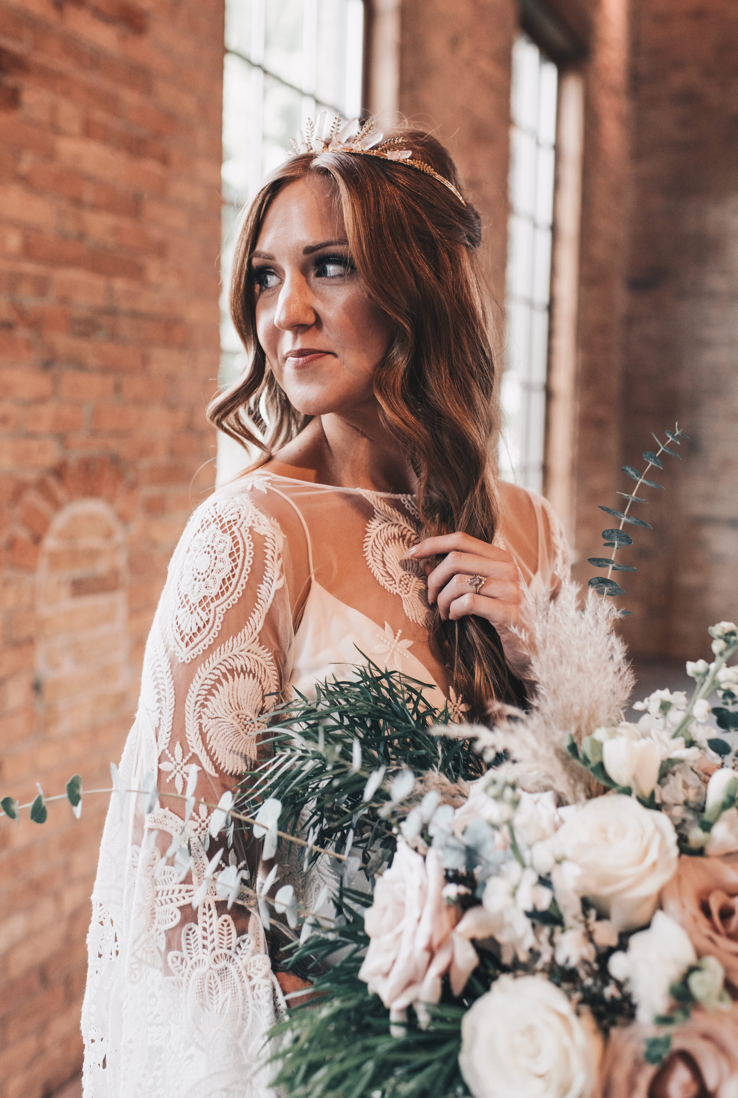 Modern Industrial Wedding, The Brix on the Fox, The BRIX, Chicago Industrial Wedding, Modern Midwest Wedding, The Brix on the Fox Wedding, The BRIX Wedding, Industrial Modern Boho Bride