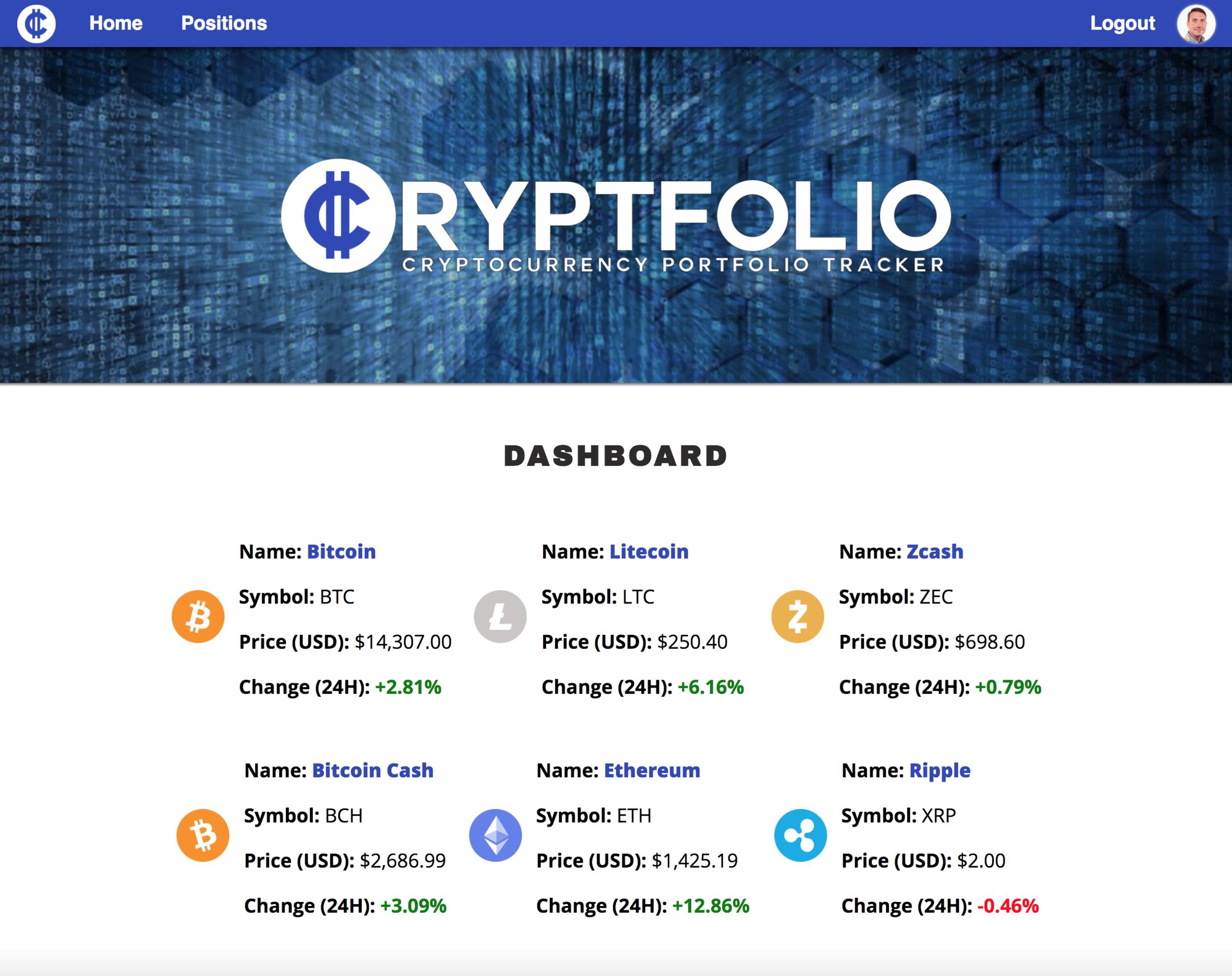Cryptfolio Screenshot