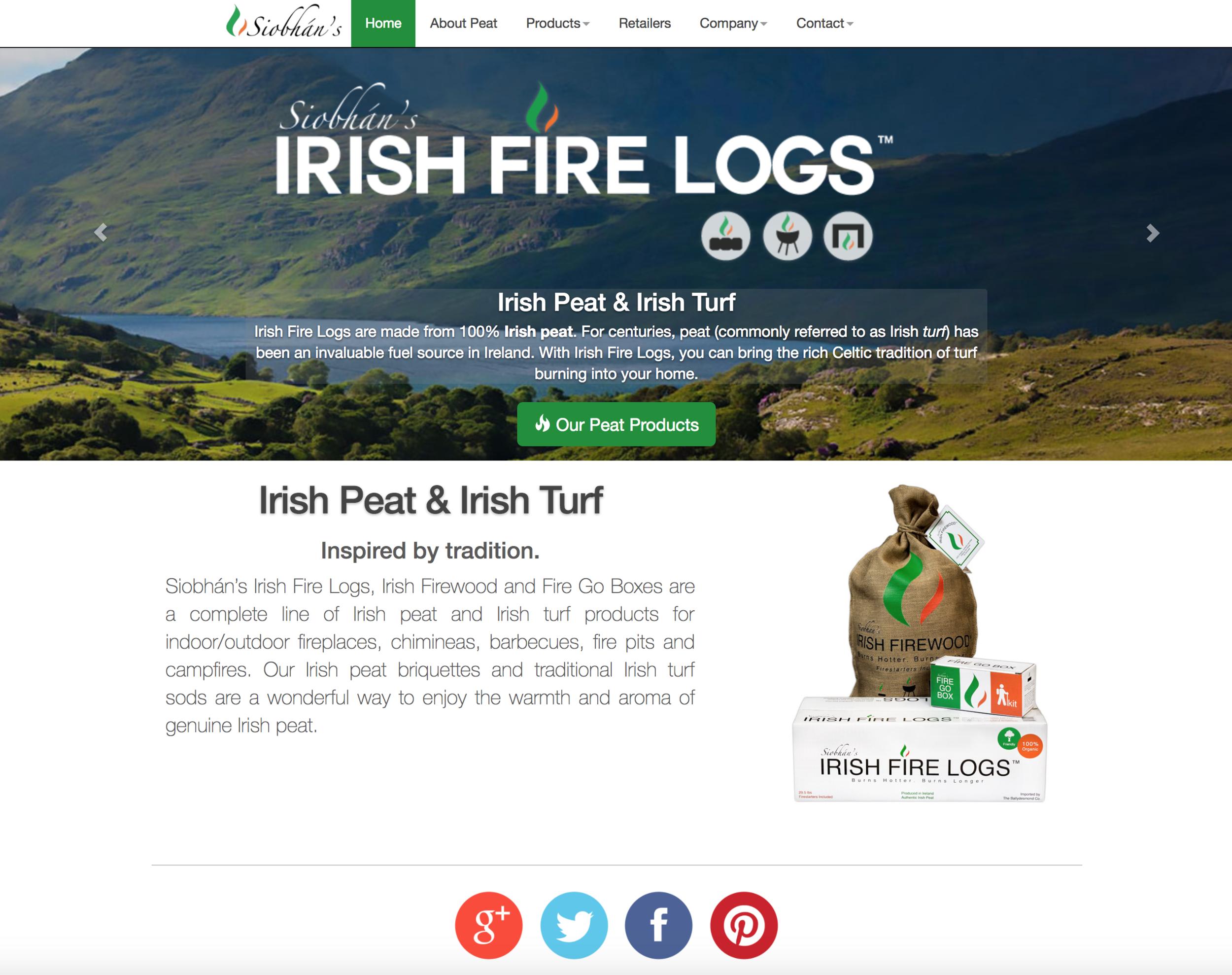 Irish Fire Logs