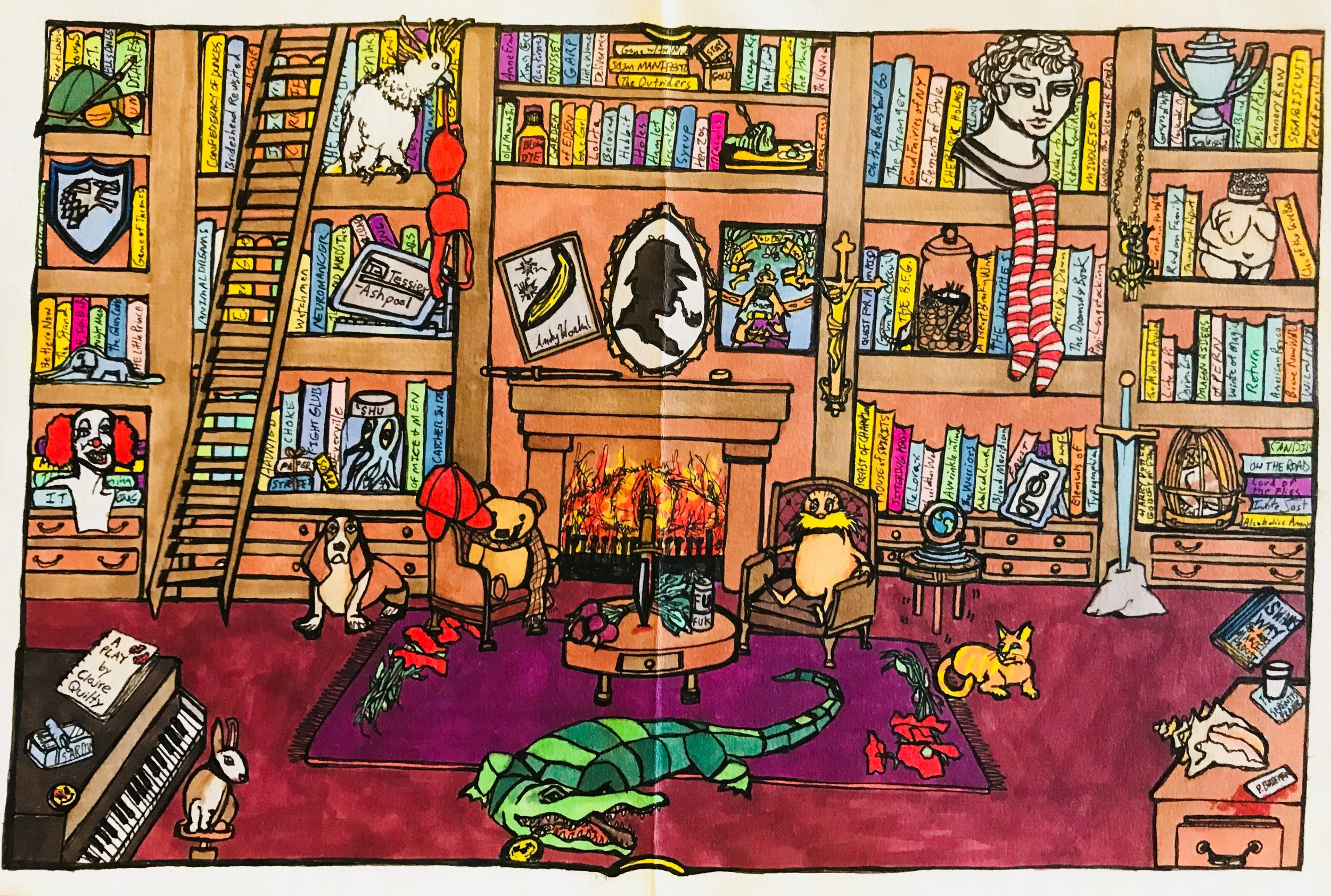 What's Your Favorite Book? (2015) / Inside Panel
