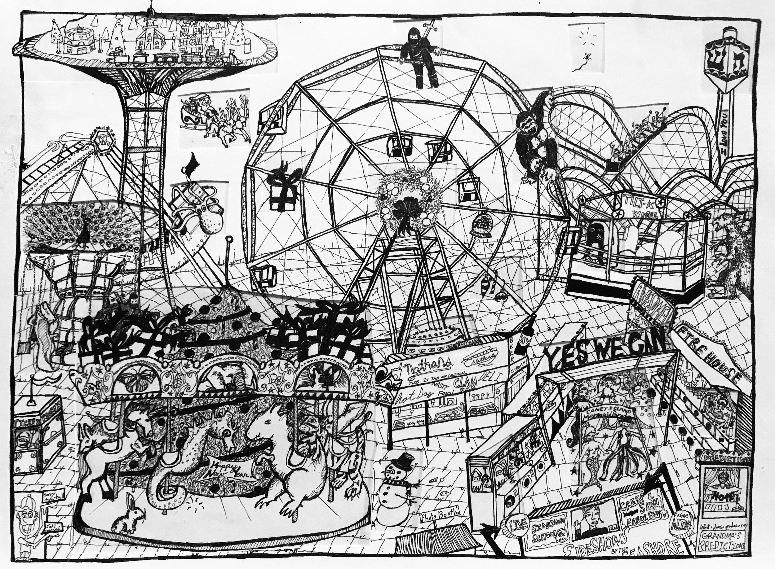 Advent Calendar (2008) / Underdrawing