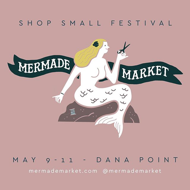 Come check out the @mermademarket this weekend! It'll be open tomorrow (10am-6pm) and Saturday (9am-5pm). Seriously, you guys gotta see all the local and handmade goods, plus it's just so much fun 😊 some of my items are available inside!