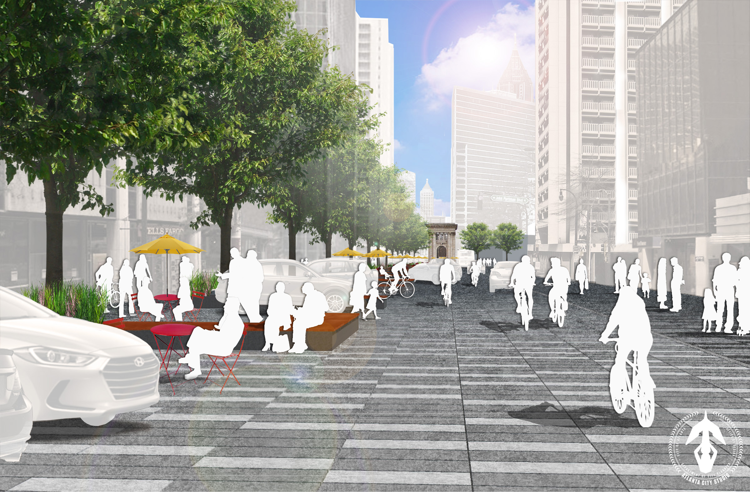 Proposed design looking towards Hardy Ivy Park