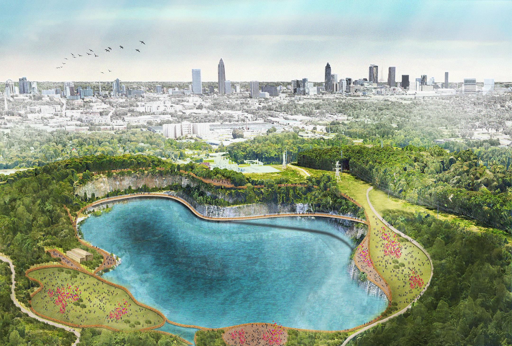 Proposed park design plan