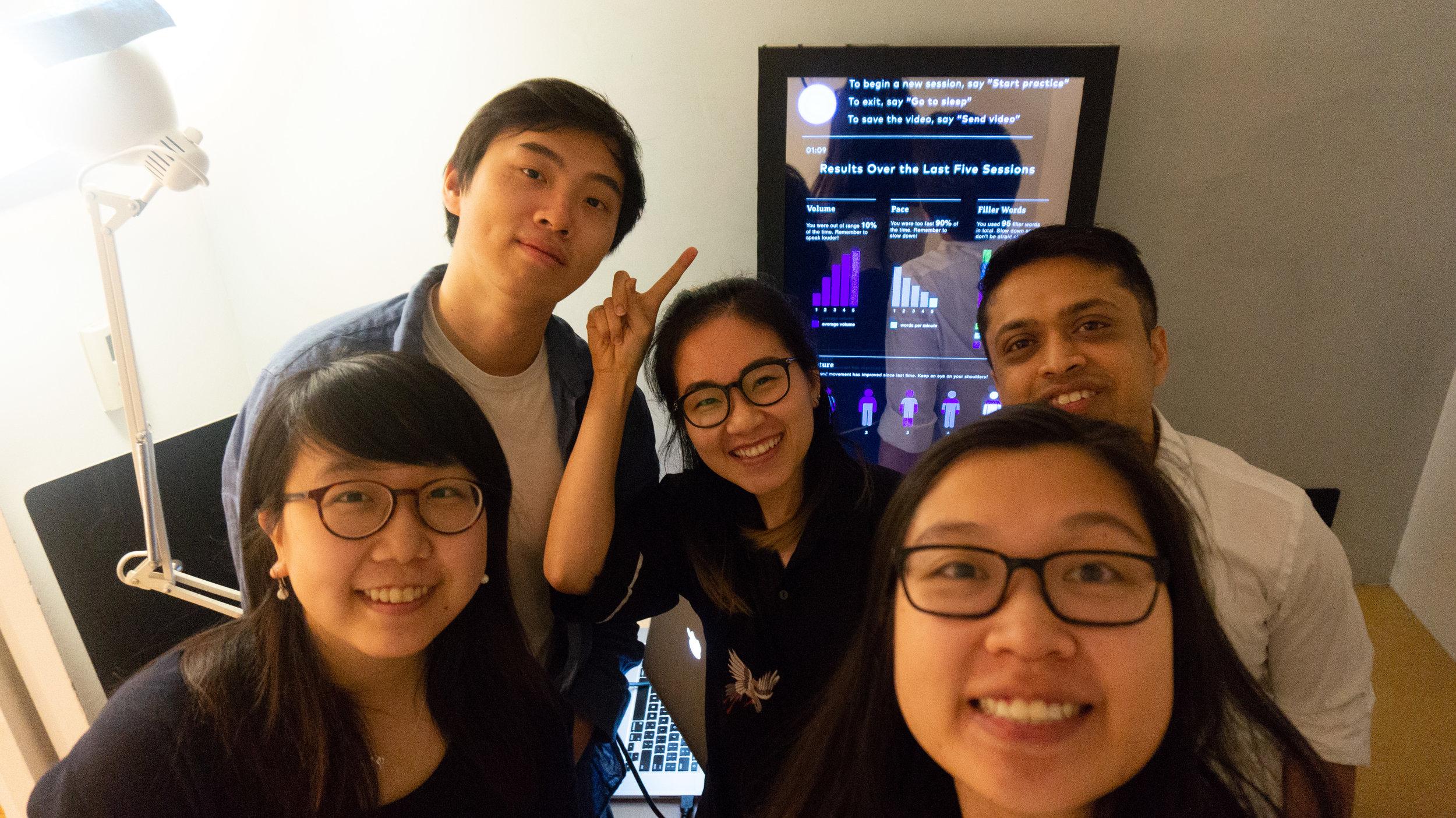 [from left to right]      Crystal Wang     ,      Ke Hu     , myself,      Margarita Yong     ,      Abhinav Sircar