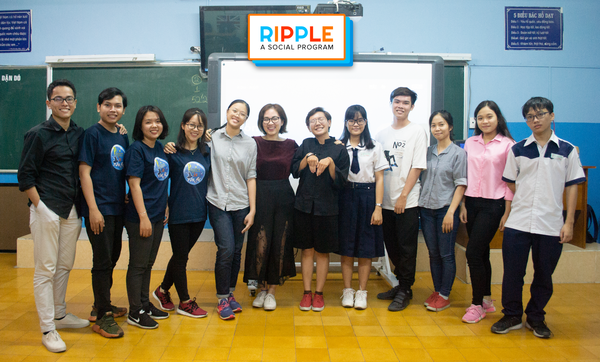 Ripple workshop 2, June 2018, with the shortlisted teams that were based in Ho Chi Minh City, Vietnam.