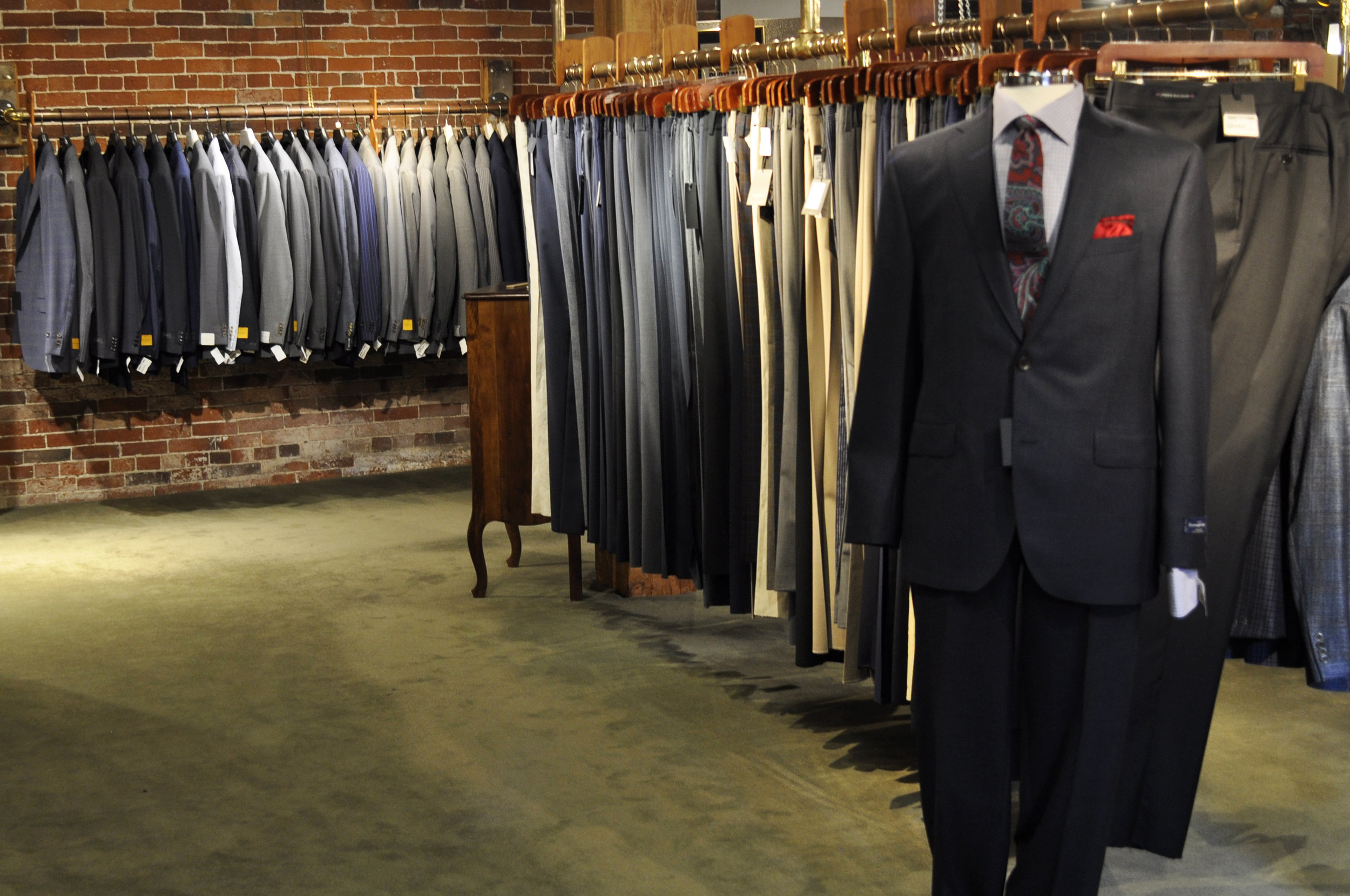 We know a lot of you associate Joseph's with tailoring, and with good reason! Between our selection of Ready-to-Wear suits,  Made-to-Measure  programs, and a master tailor on site, we can accommodate virtually any wardrobe or budget. And now we're offering some of those selections online. Once again, we're starting smart, with a selection of essential  navy blazers ,  wool trousers , and  neckties , that fit in any wardrobe. Expect to gradually see more suiting, luxury Italian brands, and everything ranging from crisp and businesslike, to soft and casual.
