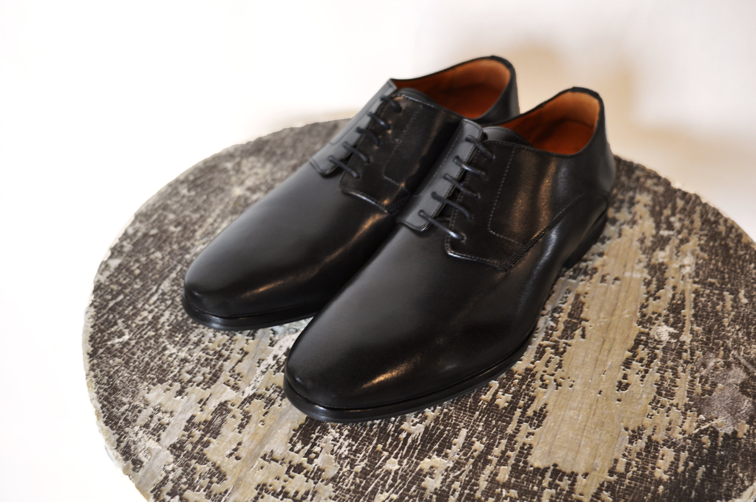 The  Barrister Plain Toe Derby in Black