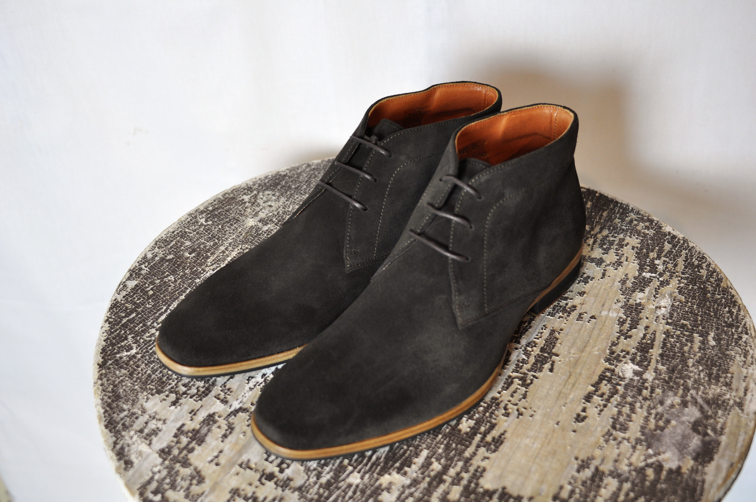 The  Striker Chukka in Chocolate Brown Suede