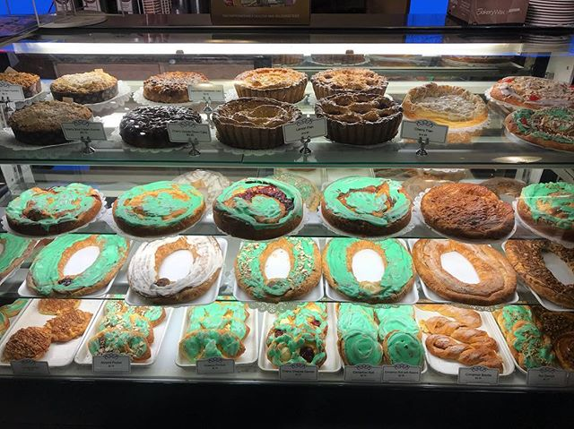 A leprechaun iced our coffee cakes and kringles this morning! Stop in and get one for the office....you're coworkers will be glad you did!