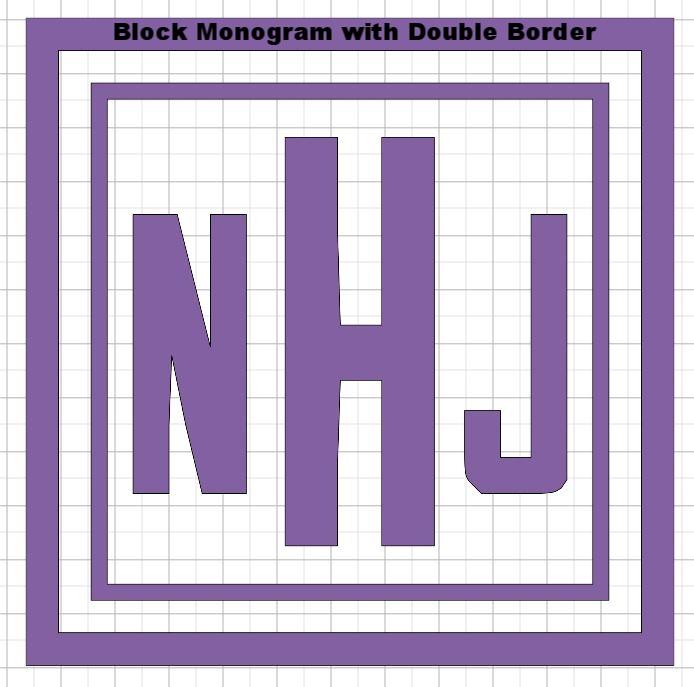 Pillow - Block monogram with double border.JPG