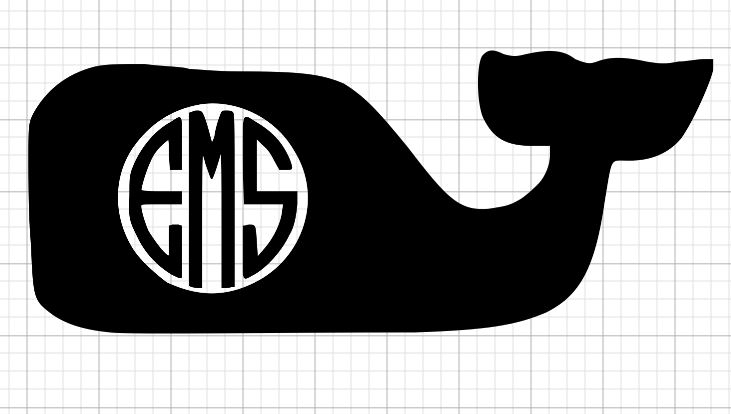 Whale Initials