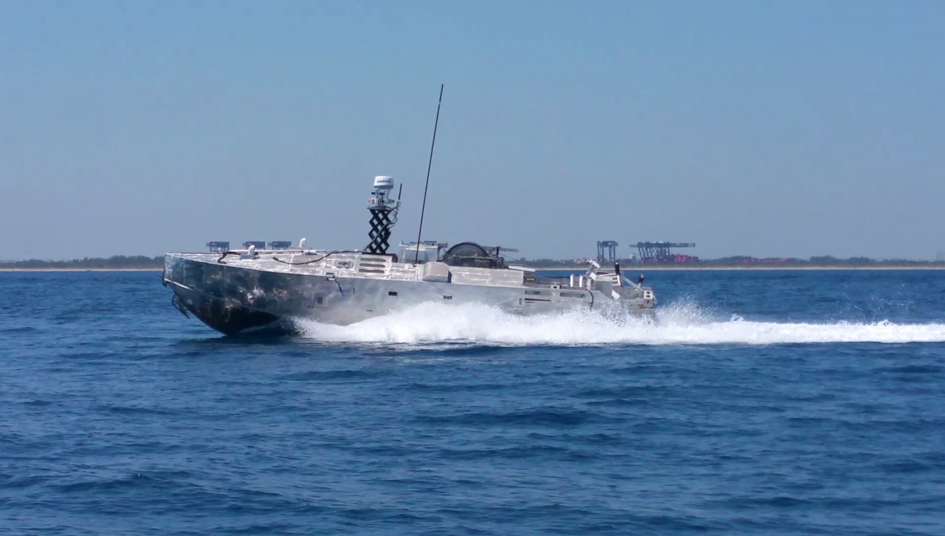 Common Unmanned Surface Vehicle testing. Textron Systems photo.