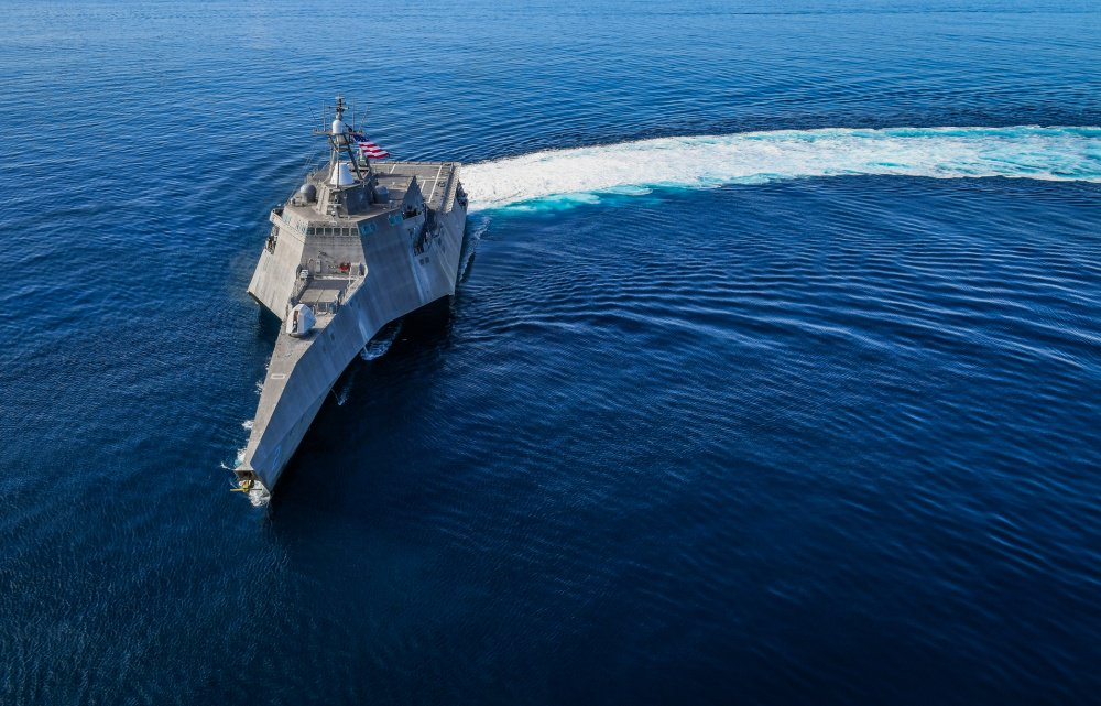 USS Independence (LCS-2) sails in the eastern Pacific on Feb. 27, 2019. US Navy Photo