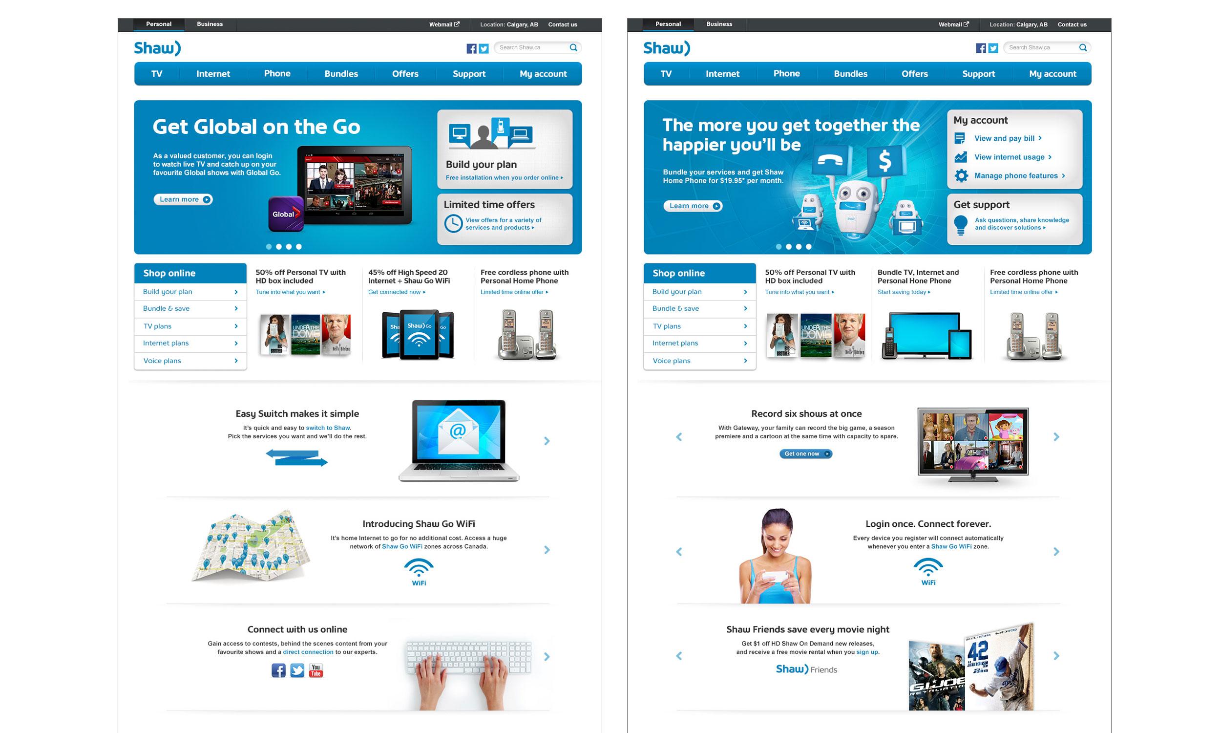 Web Design: Shaw Homepage — Lauren Moggach