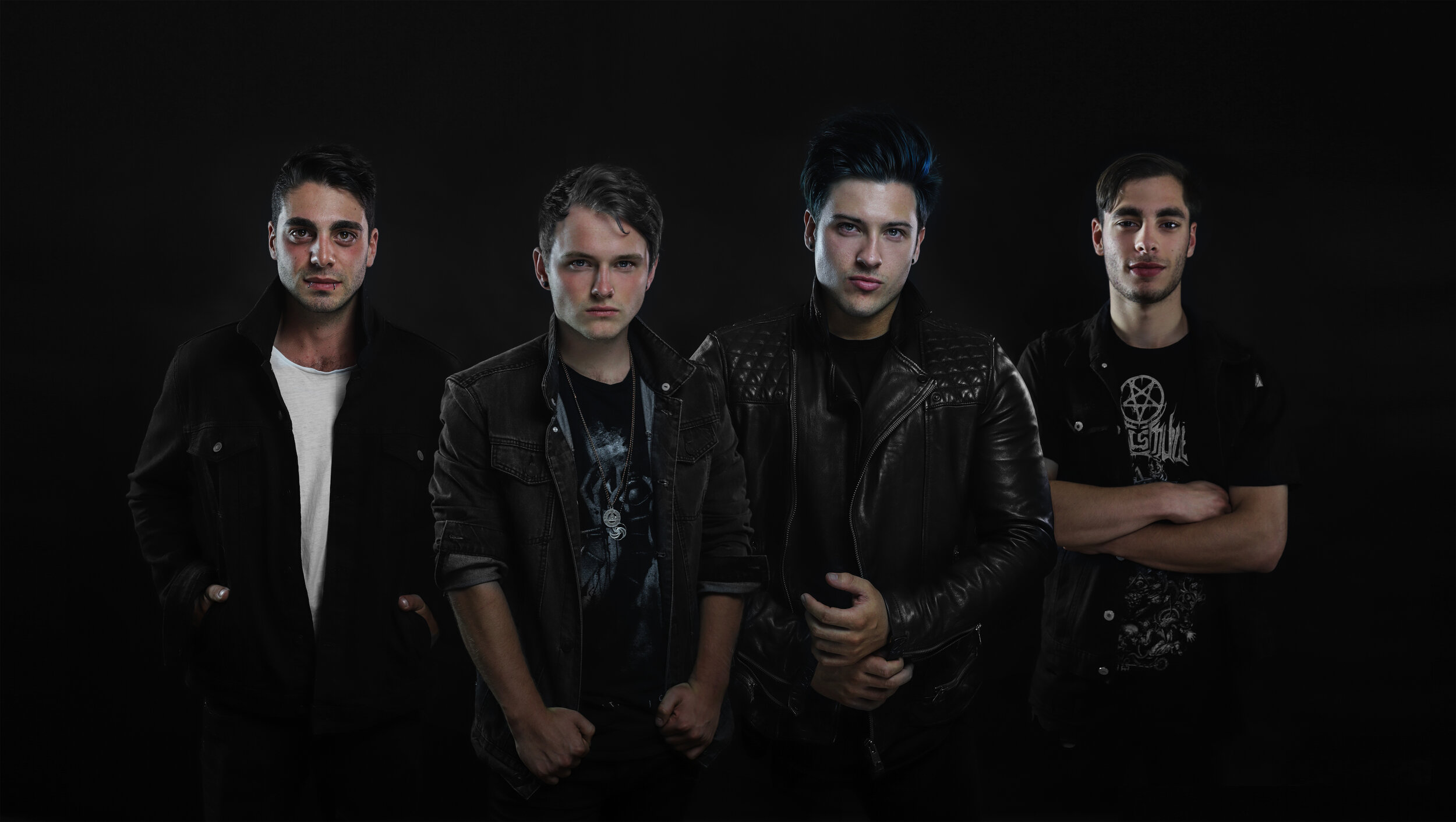 Left to right: Beau Grech (drums), Terence Stevens (vocals/rhythm guitar), Mitchell Black (lead guitar), Christian Centofanti (bass guitar).