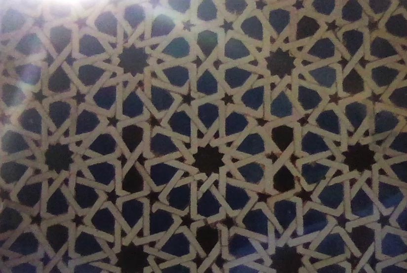 Alhambra, Granada, Spain. 2001. The palace was filled with beautiful tile work.