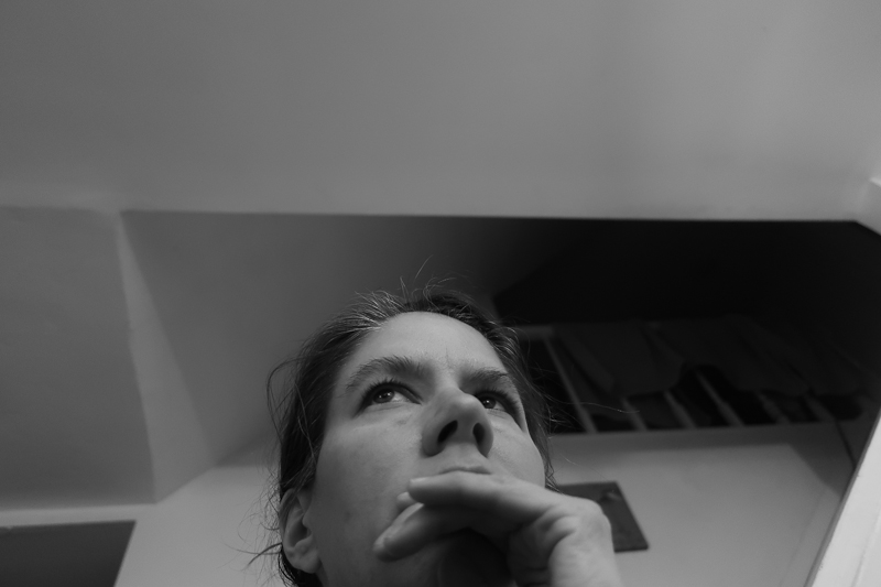 Self-portrait in black and white, February 5, 2019