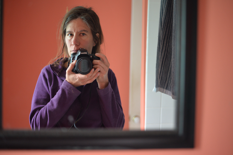 Self-portrait in mirror, May 9, 2019