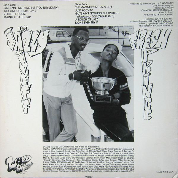 The original back cover to 'Rock The House'