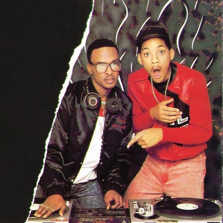 The magnificent Jazzy Jeff on the one and two's from the  Rock The House  inlay/artwork