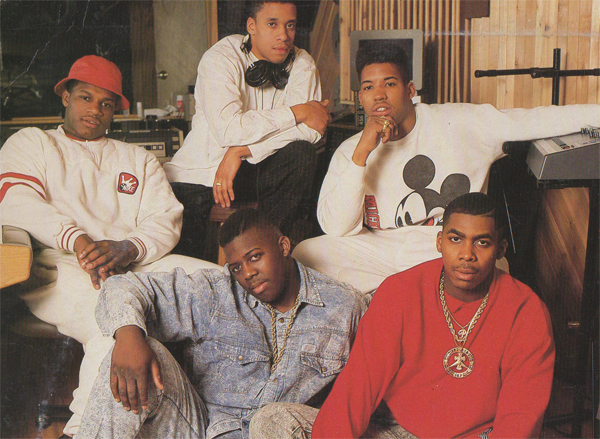 This photo of EPMD was a part of the original artwork for 'Strictly Business' (inlay)