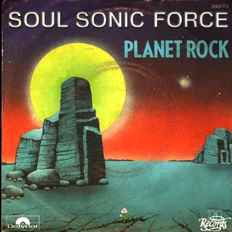 Soul Sonic Force's 'Planet Rock' single cover from 1982