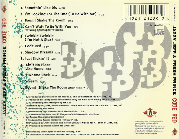 The 'Code Red' tracklisting and production credits