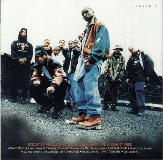 """The CD inlay for Mobb Deep's 1995 album """"The Infamous"""""""
