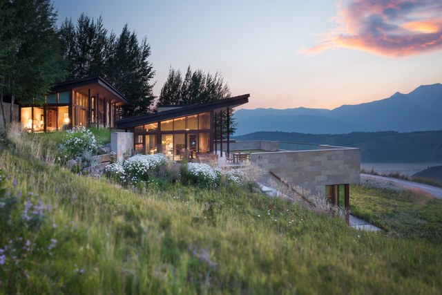 View this beautiful Jackson, Wyoming hillside home is at  Architectural Digest