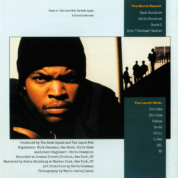 CD art inlay from Ice-Cube's AmeriKKKa's Most Wanted