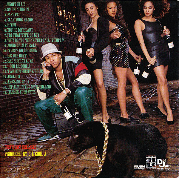 The back cover from LL Cool J's  Walking With A Panther  album