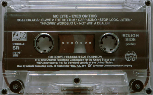 """The cassette version of MC Lyte's came with a """"rough"""" side and a """"tough"""" side rather than a side """"""""a"""" and """"b"""""""