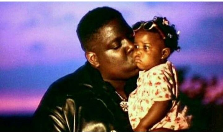 Nostalgic picture of Biggie and his daughter T'yanna in the 90s
