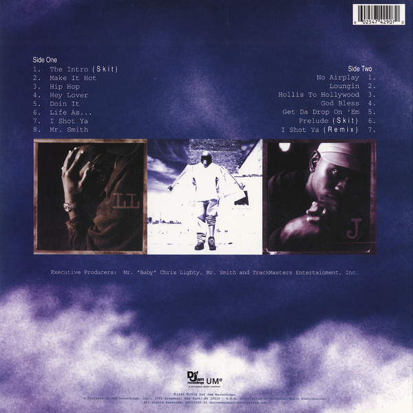 This part of the inlay shows the tracklist of LL Cool J's  Mr. Smith  - Great artwork on this album