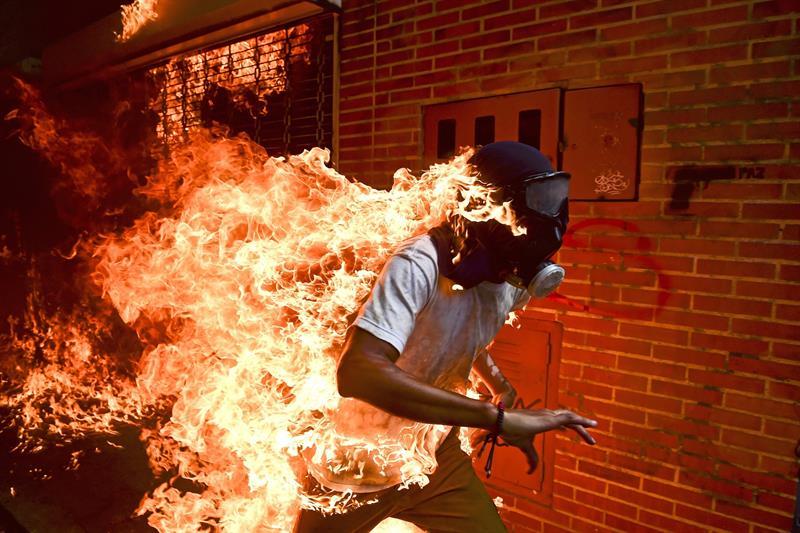 Una imagen de las protestas en Venezuela, nominada al World Press Photo .jpg