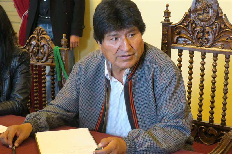 Evo Morales celebra la candidatura de Nicolás Maduro y augura su triunfo .jpg