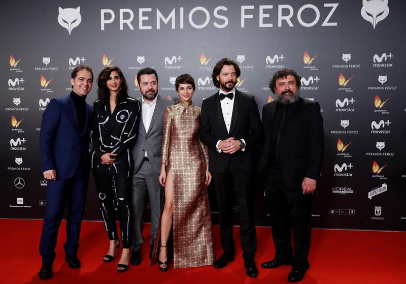"""El elenco de la serie española """"La casa de papel""""."""