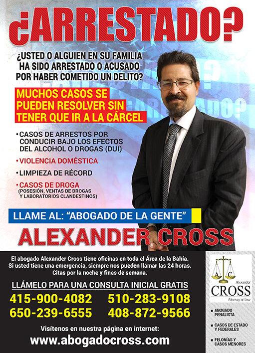 Alexander Cross, Abogado