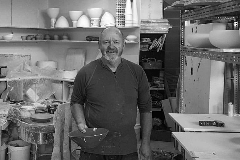 Peter Collis - Peter Collis has worked with clay nearly all of his life; the main focus of his work has been the handling of shape and surface. Collis is a highly skilled thrower and a leader in technical aspects - he creates pure form vessels, which he then treats in a wide range of methods: he makes his own luster glazes, crackle glazes, textured engobe, and in his new works he has been experimenting with matte finishes and crystal glazes.